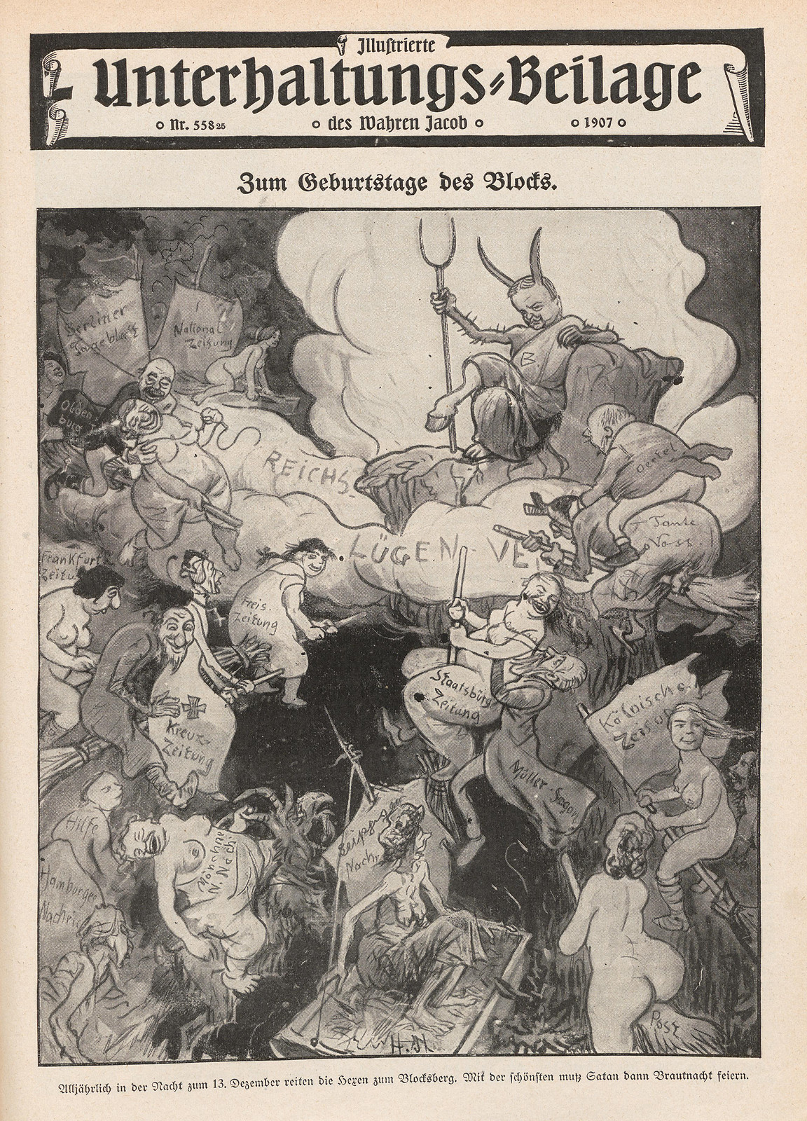 Hans Gabriel Jentzsch - On the birthday of the block, 1907