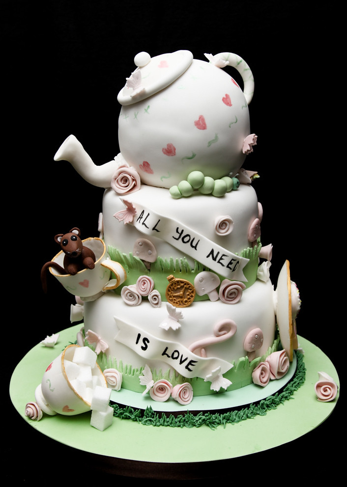 Mad Hatters Tea Party Wedding Cake | Crazy Moose Bakery | Flickr