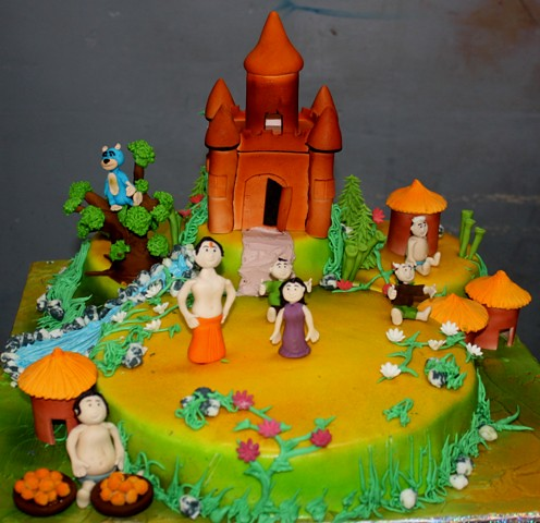 Chotta Bheem 3d Themed Cake With Fondant Characters Flickr