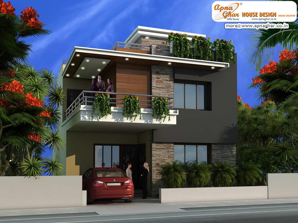Modern duplex house design modern duplex house design for Modern duplex house designs