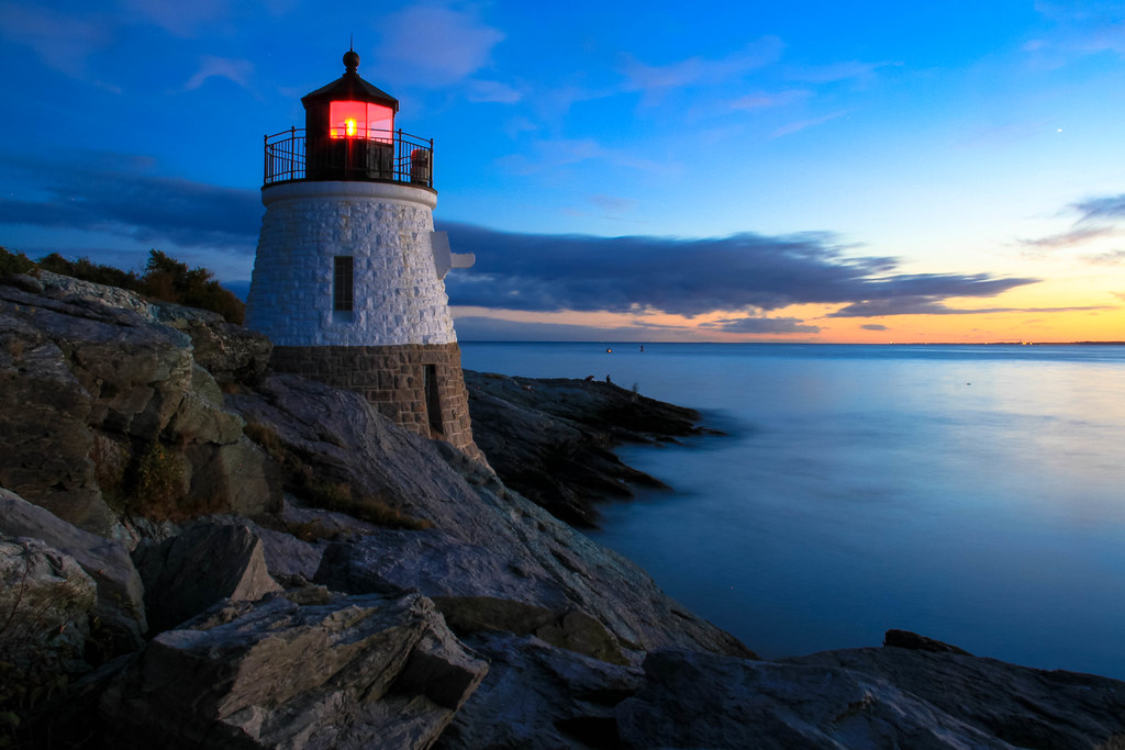 Sunset At Castle Hill Lighthouse This Was Taken On My