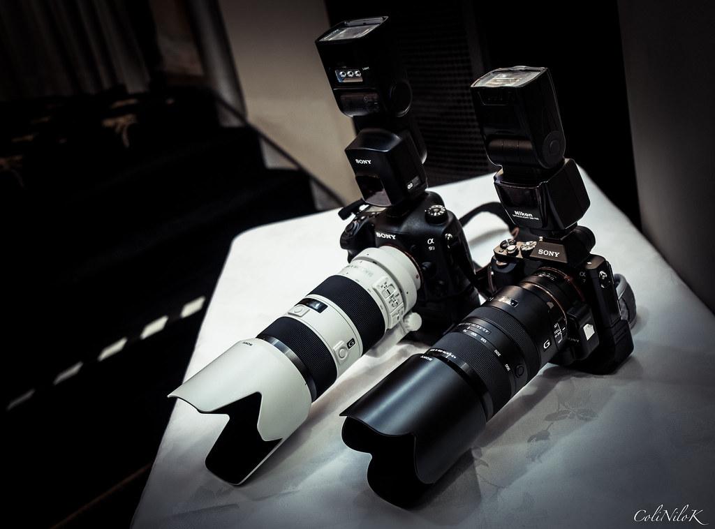 my a99 and friend s a7 as the main gear used in a recent w flickr