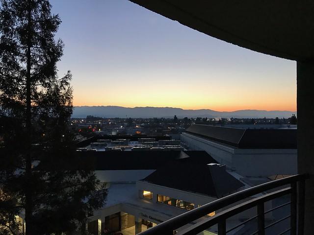 Sunrise at the Visalia Marriott