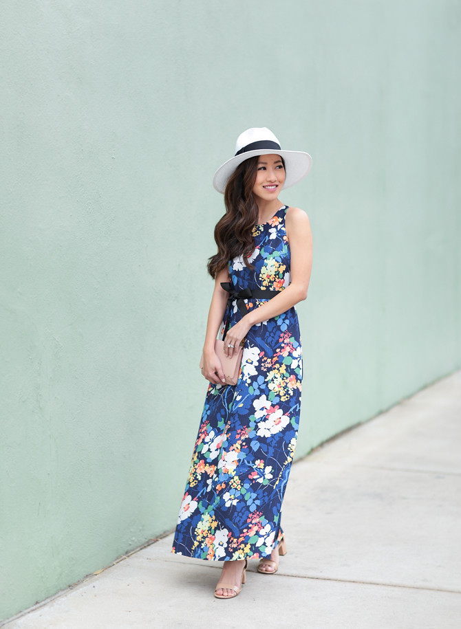 banana republic petite floral maxi dress spring summer wedding