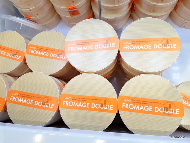 Double Fromage LeTAO cheesecake