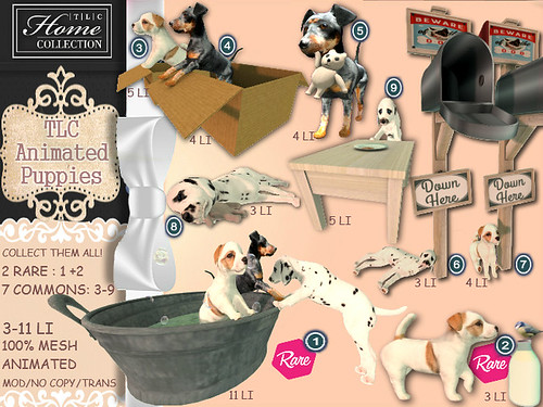 │T│L│C│ Gacha: 'animated puppies' @ The Cosmopolitan April 24 - May 5th | by - TRUE & LAUTLOS CREATIONS -