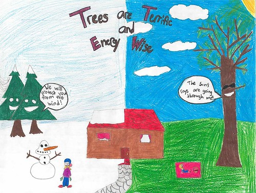 Image of The 2017 Arbor Day Poster Contest statewide winning entry, submitted by Clara Pham from St. Mary's County