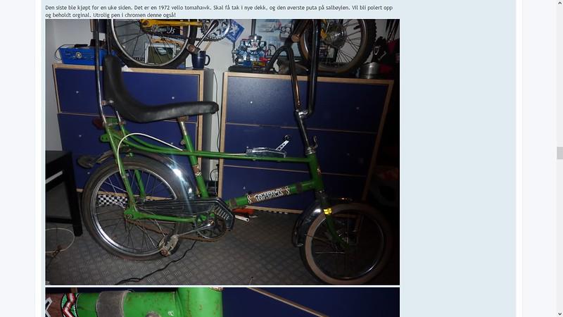 tomahawk sykkel da var ung