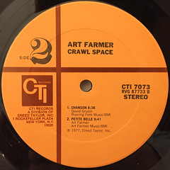 ART FARMER:CRAWL SPACE(LABEL SIDE-B)