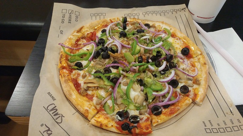 Build Your Own pizza at Rapid Fired Pizza.