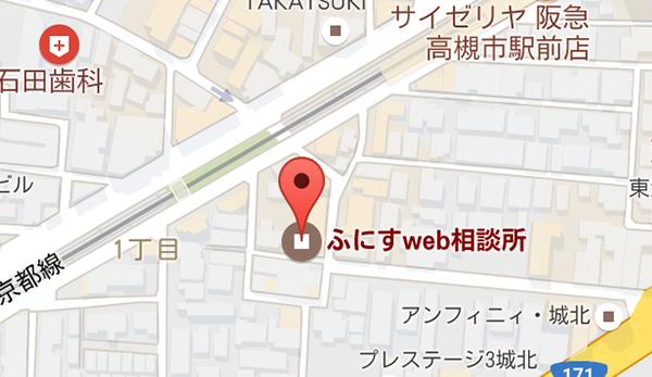 検索すると地図上のピンに店舗名が表示