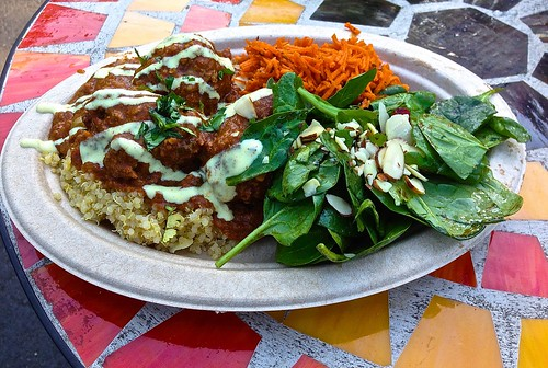 Moroccan meatballs from fuki food truck at streatfood park for Aicha moroccan cuisine san francisco