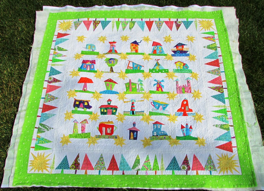 Wonky House Quilt! I ve been sewing away on this puppy sin? Flickr