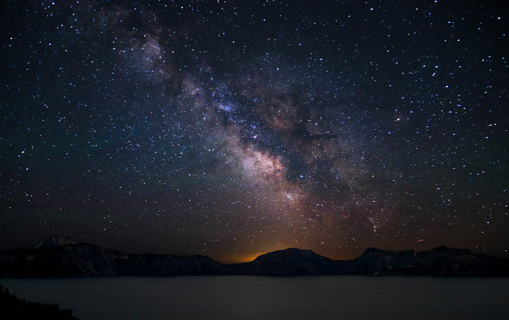 milky way over crater lake  explore 07  09  13