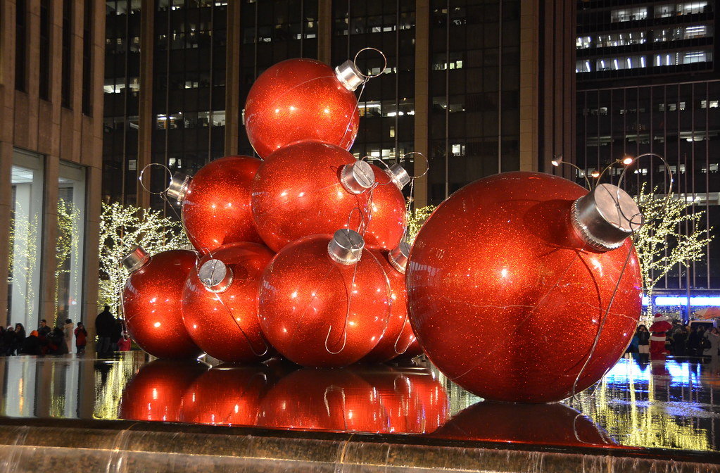 giant red balls by afagen - Giant Christmas Balls