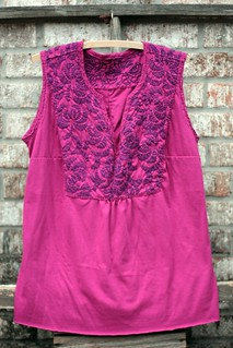 hand sewn sleeveless tunic top | by artsy-crafty babe