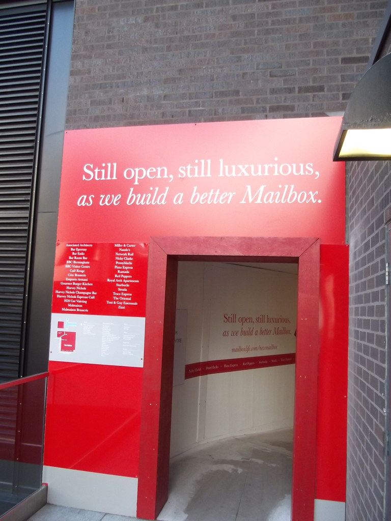 The Mailbox redevelopment - temporary tunnel | The Mailbox i