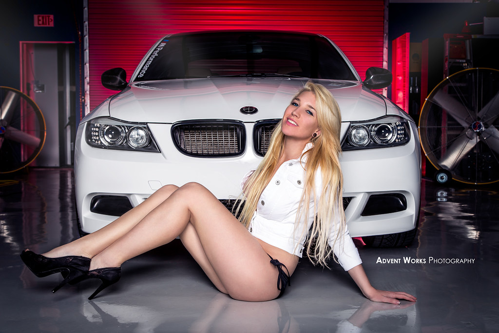 Laying out by the bimmer | Kendra with the BMW 335i | Flickr