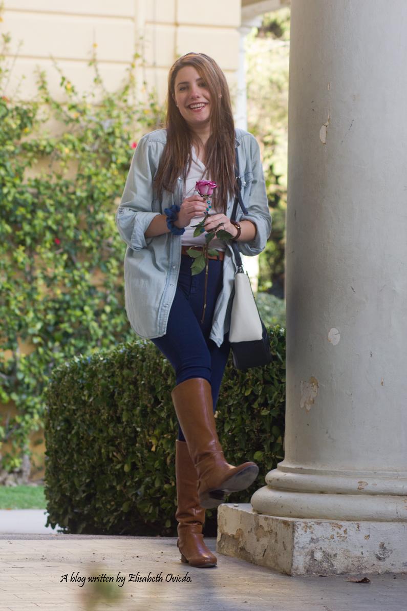 jeans look primavera heelsandroses botas marrones bolso grande (8)