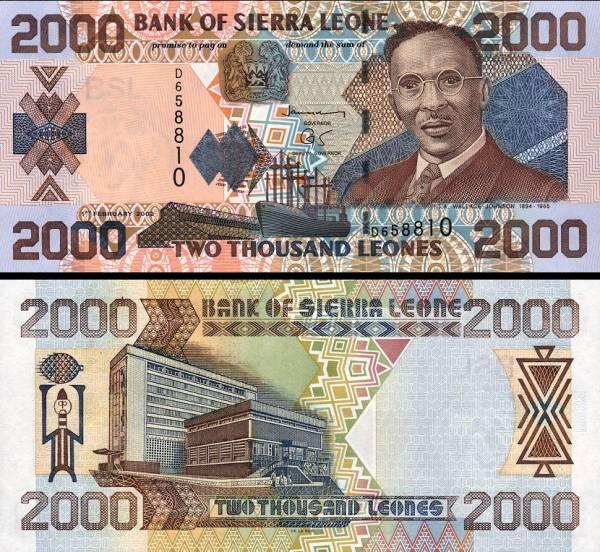 2000 Leones Sierra Leone 2006, P26a