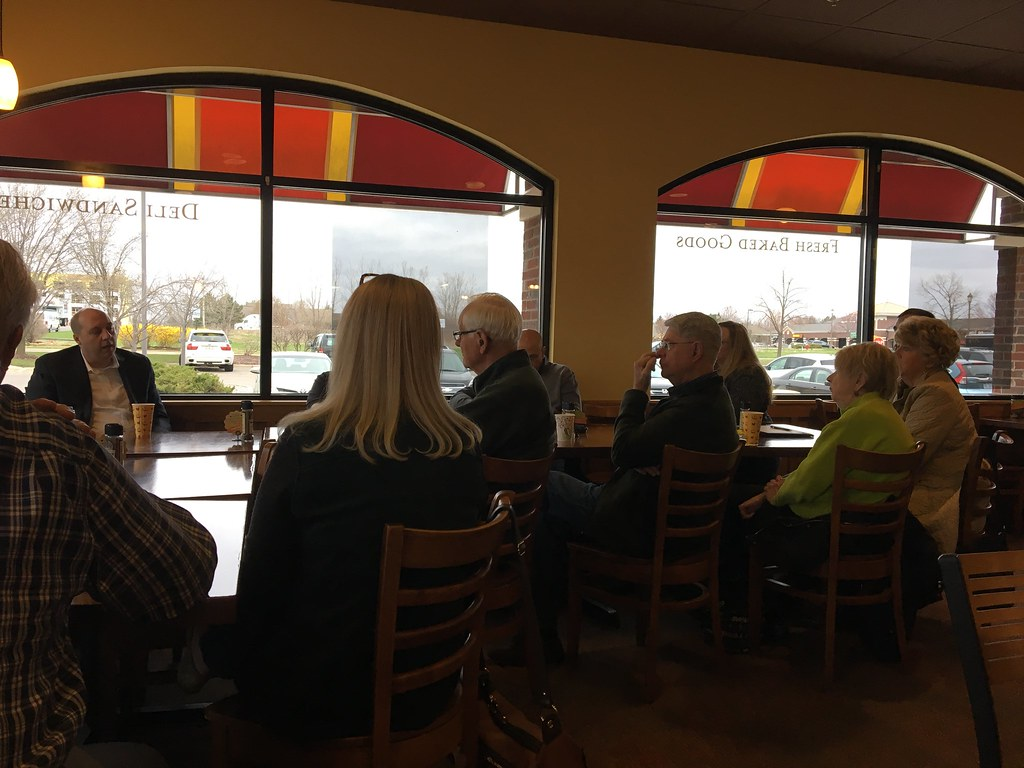 A Day of Coffee Hours with Senator Curtis Hertel Jr.