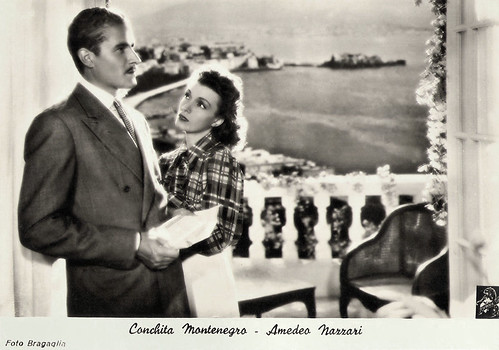 Conchita Montenegro and Amedeo Nazzari in L'uomo del romanzo (1940)
