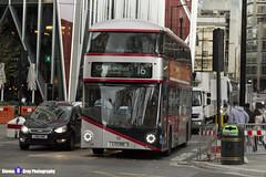 Wrightbus NRM NBFL - LTZ 1190 - LT190 - Silver - Cricklewood Bus Garage 16 - Metroline - London 2017 - Steven Gray - IMG_8815 - IMG_9270
