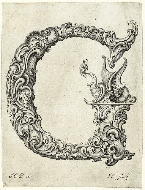 008-Letra G-Libellus Novus Elementorum Latinorum -J. C. Bierpfaff-  Rijksmuseum