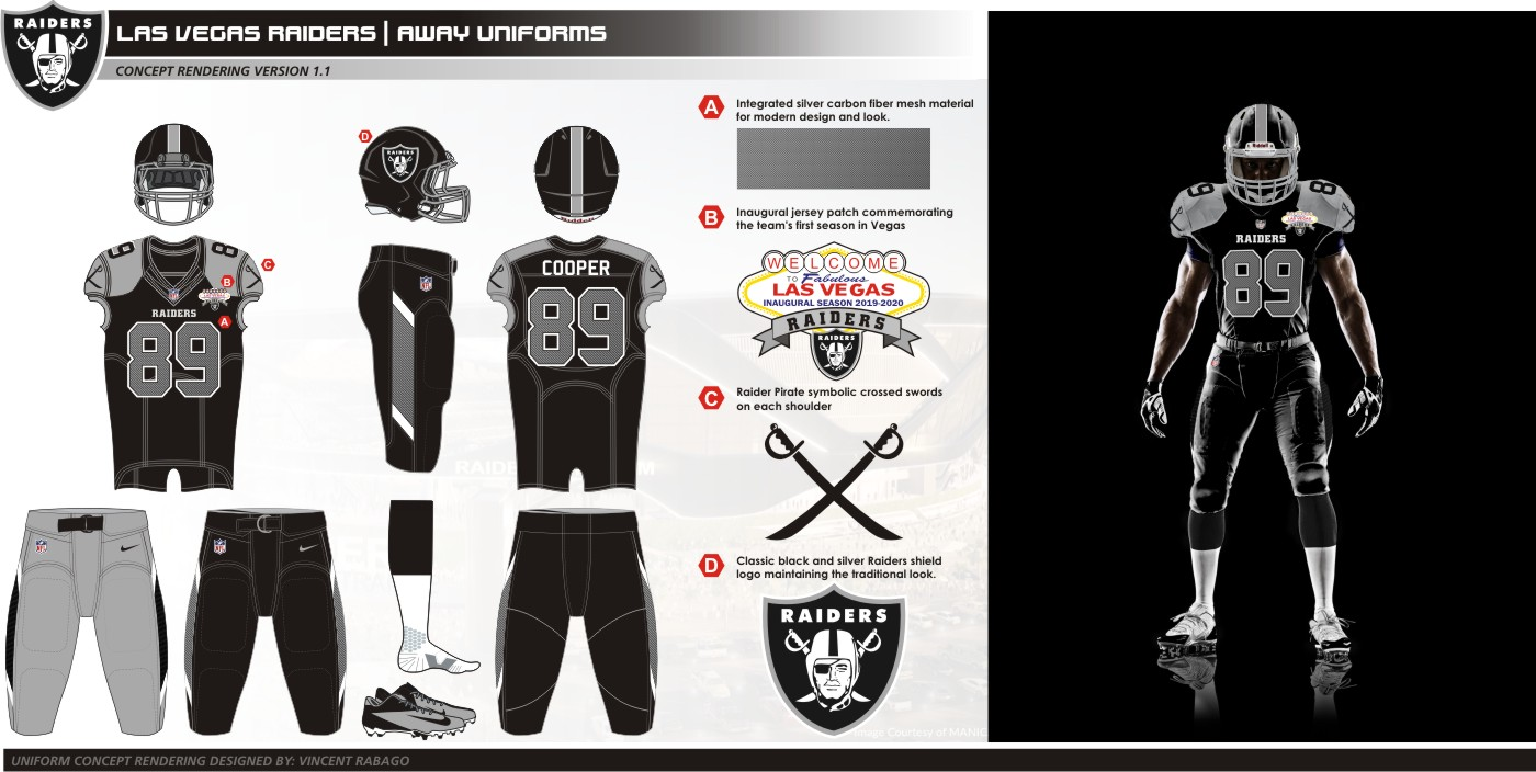 Uni Watch Presents The Best Fan Designed Raiders Uniforms