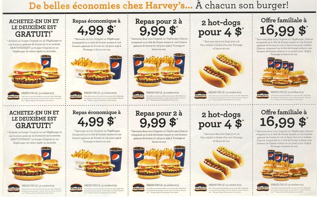 Harveys coupons quebec