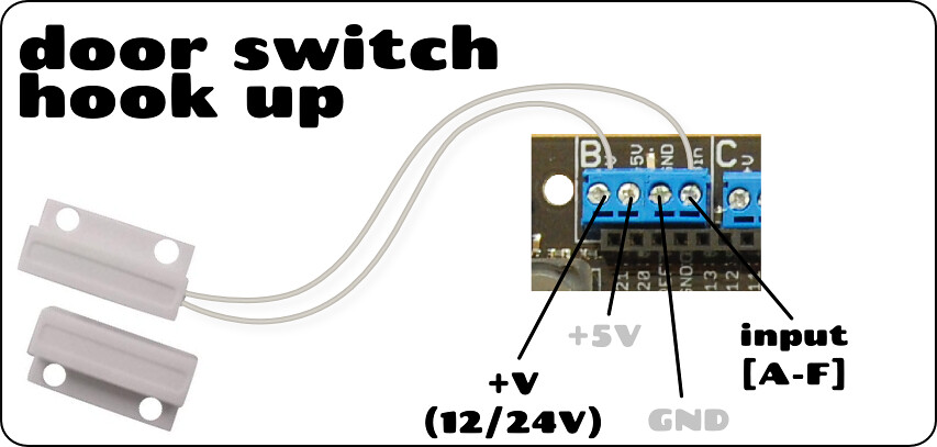 Wiring Diagram For Reed Switch : Door switch v magnetic aka reed