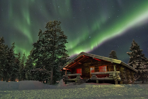 Northern lights above a cottage | by berlinrider