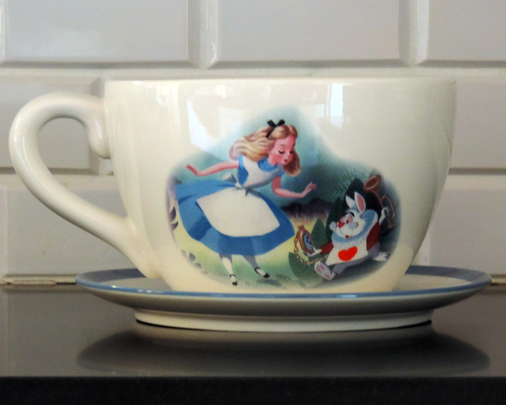 10 Alice In Wonderland Large Teacup Planter Height 6 Inc Tracy