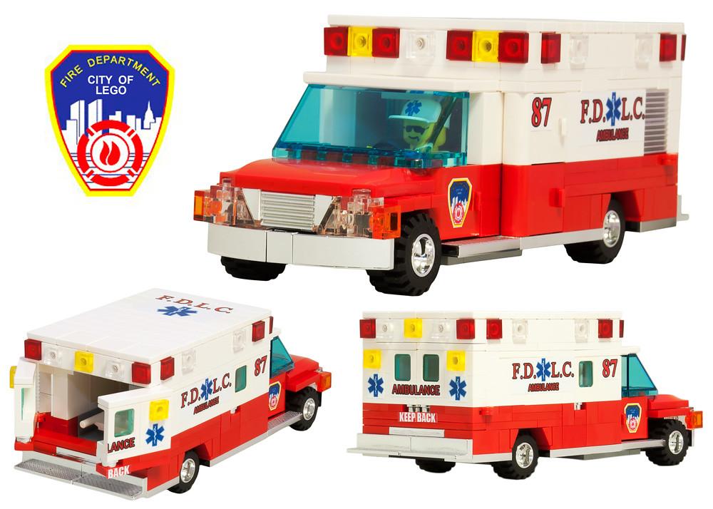 lego city fire department rescue paramedic ambulance