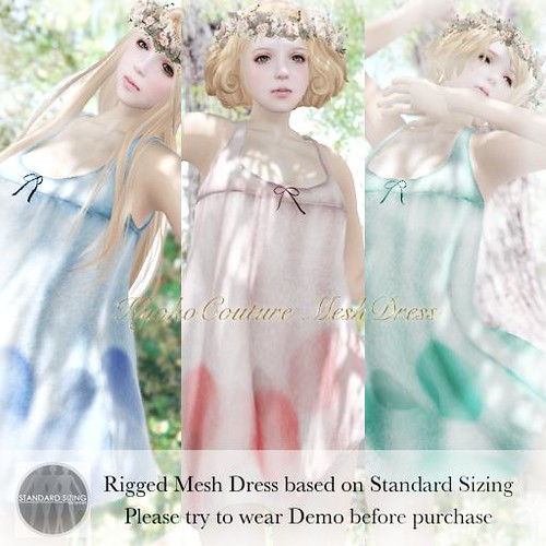 KC No.02[mirara dress]rigeed mesh dress