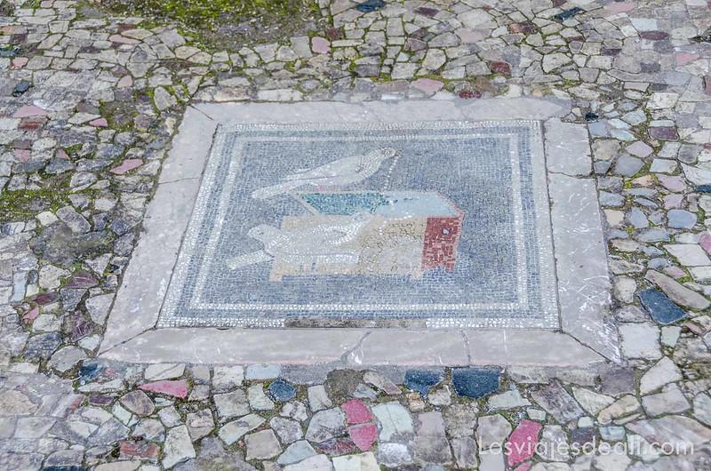 mosaico en la visita a Pompeya