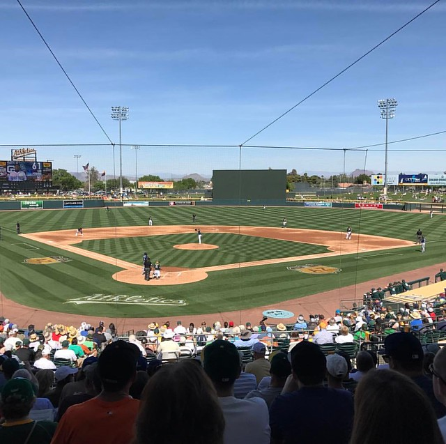 Spring Training Day 2 - A's versus Padres