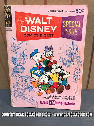 1971 Walt Disney Comics Digest Comic Book - Country Bear Collector Show #087