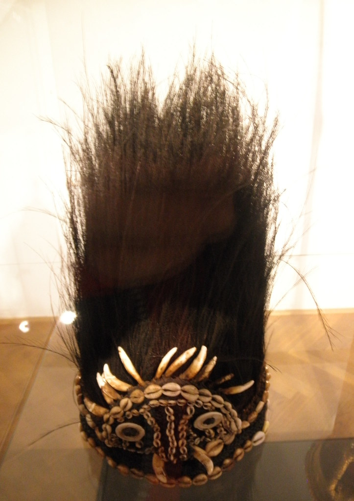 feather and shell headdress