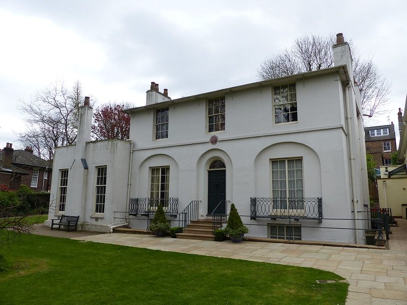 This ia a picture of keats house near hampstead heath