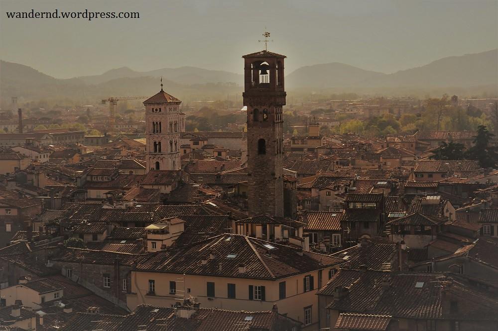 Lucca Ausblick Torre Guinigi