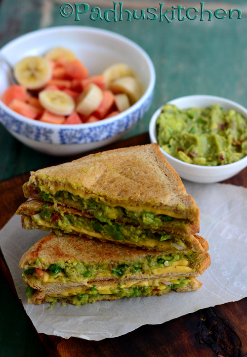 avocado veg sandwich