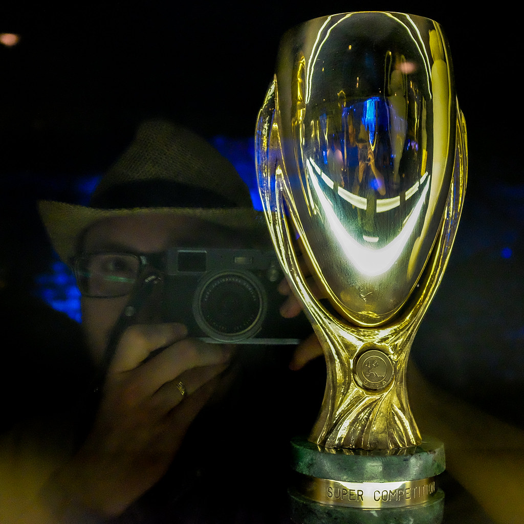 Supercup: Reflection Self-portrait With UEFA Supercup
