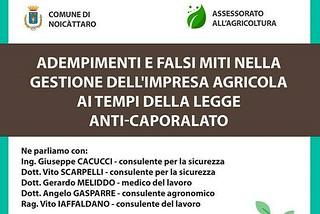 Noicattaro. Convegno agricoltura front