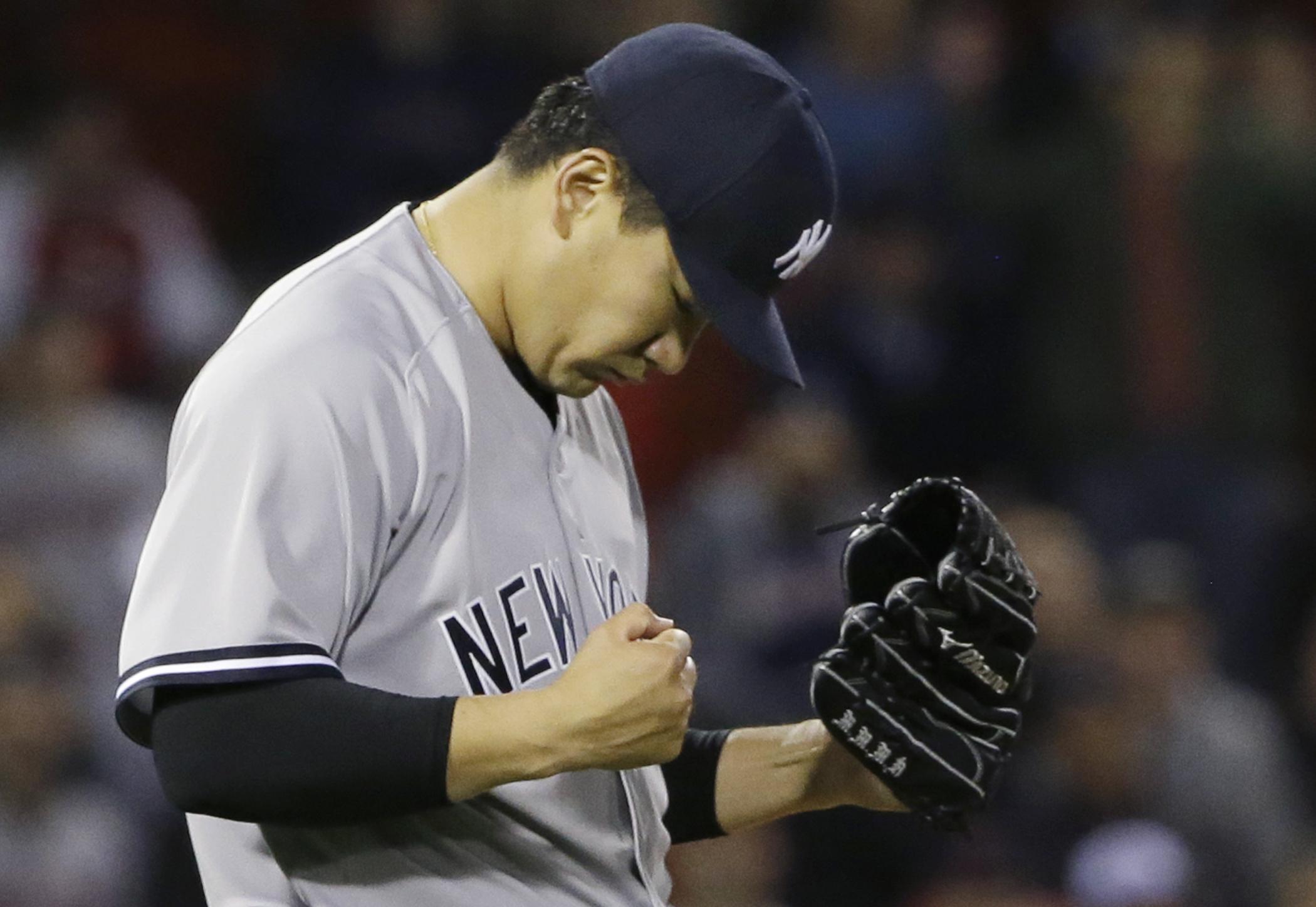 田中將大只用了97球就投出大聯盟生涯第2場完封勝。(達志影像)