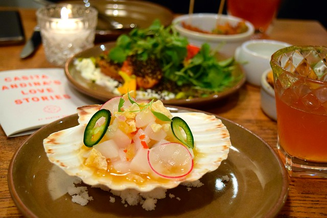 Scallop Ceviche with Pork Dashi at Casita Andina, Soho | www.rachelphipps.com @rachelphipps
