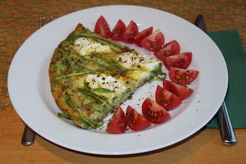 Frittata mit grünem Spargel und Ziegenkäse (mein Teller)