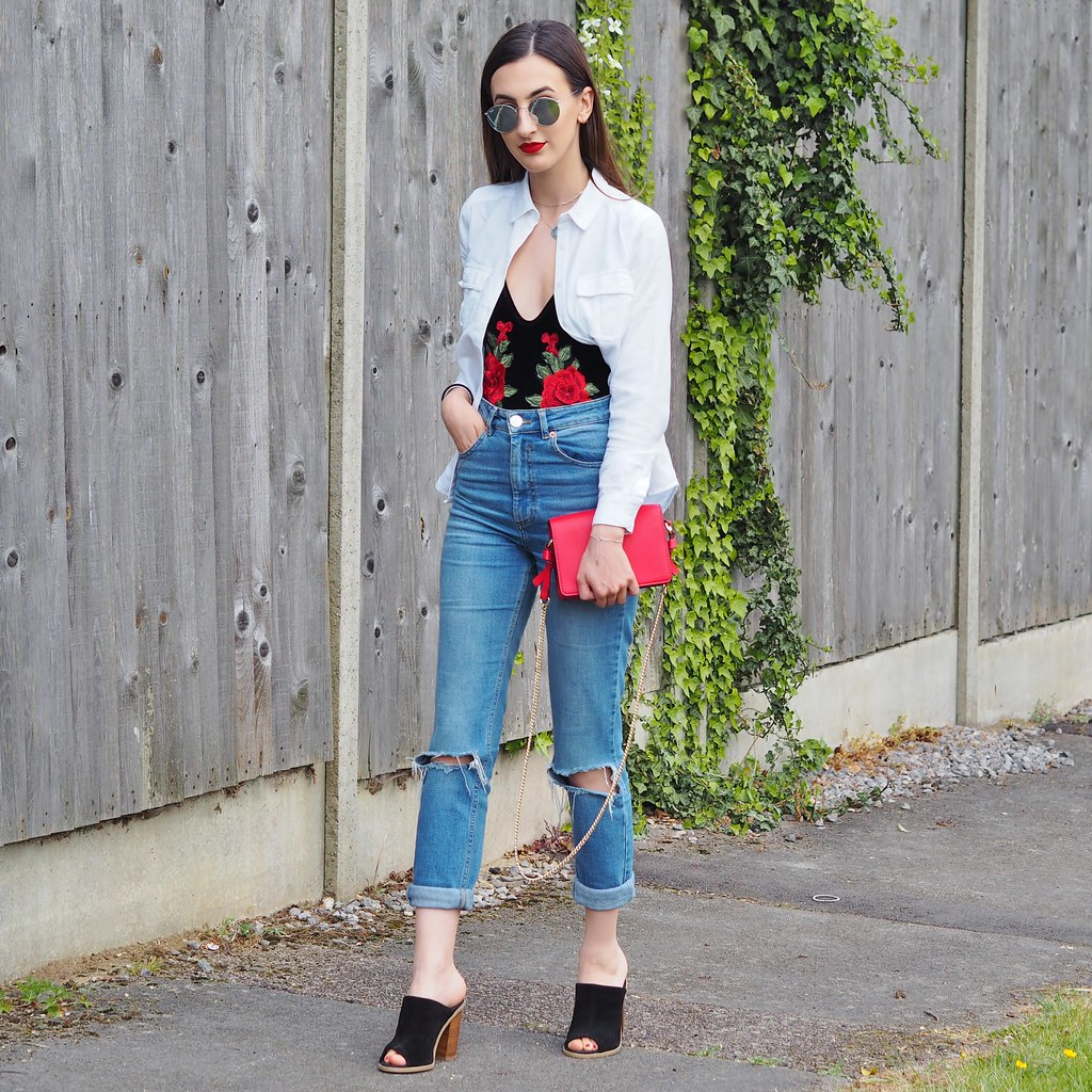RED EMBROIDERY OOTD