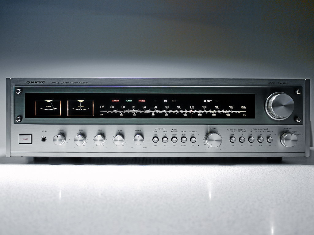 onkyo tx 8500 stereo receiver 1978 in 1978 onkyo built the flickr. Black Bedroom Furniture Sets. Home Design Ideas