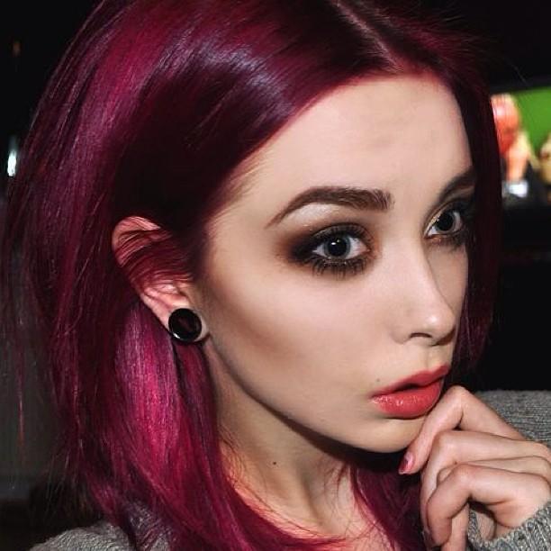 Dark Magenta Hair Color  Dark Brown Hairs